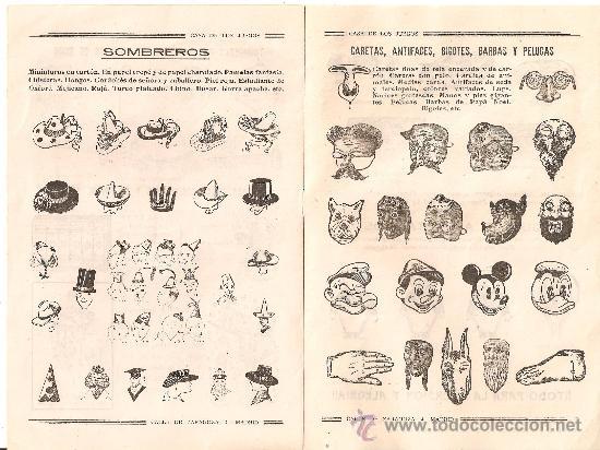 La Casa de los Juegos. Página de un catálogo de 1945