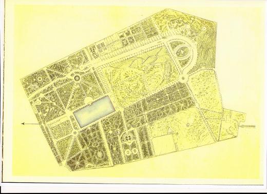 El retiro de madrid en sus planos de jard n real a parque for Planos de jardines