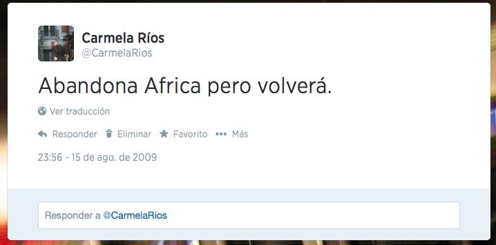 Carmela Ríos Twitter