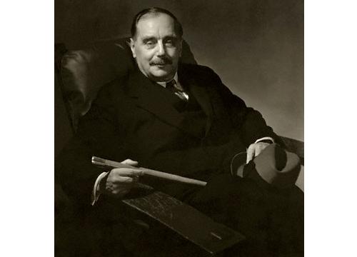 Fotografía de H.G. Wells en 1932. Edward Steichen