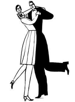Dibujo de una pareja bailando