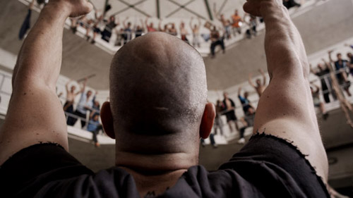 Luis Tosar en una escena de la película Celda 211