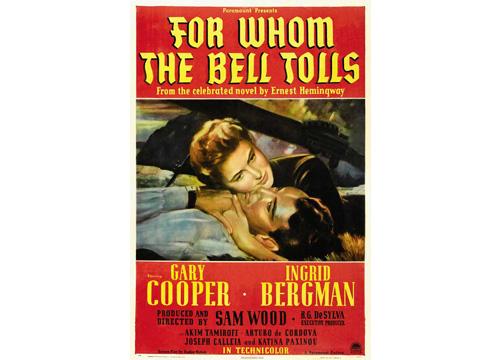 Cartel de la película For whom the bell tolls