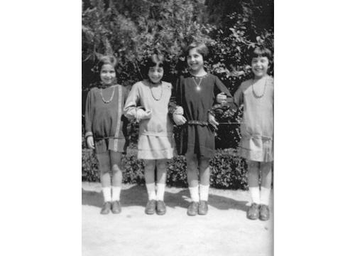 Carmen de Zulueta y sus primas en los años 20