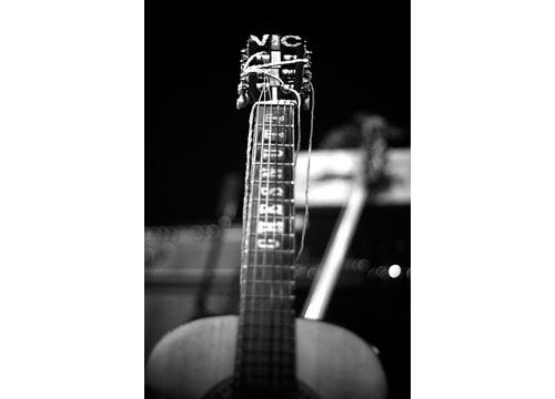 Mástil de la guitarra de Vic Chesnutt