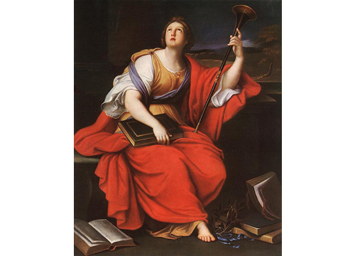 Clio, musa de la Historia. Pintada por Pierre Mignard, 1600