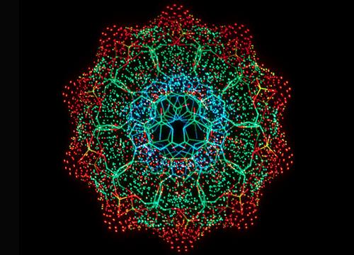 Estructura interior de una hélice doble de ADN