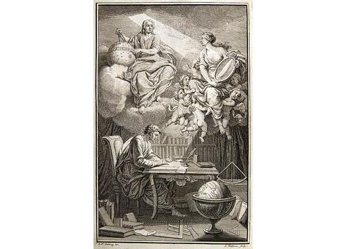 Dibujo. Una luz ilumina a E. Châtelet