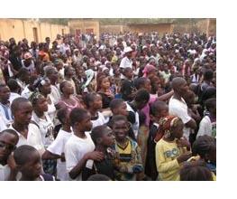 Estudiantes en Mali