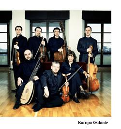 Integrantes de la orquesta Europa Galante