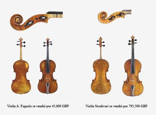 Violines A. Fagnola y Violín Stradivari