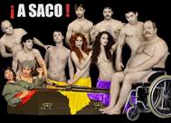 Cartel de 'A saco!!!'