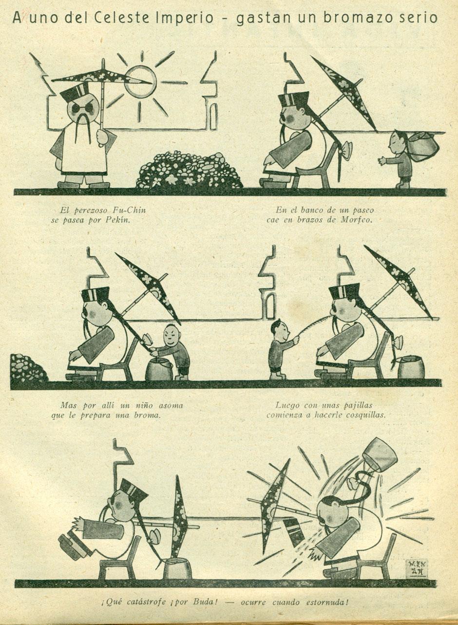 Viñeta del comic La máquina maravillosa