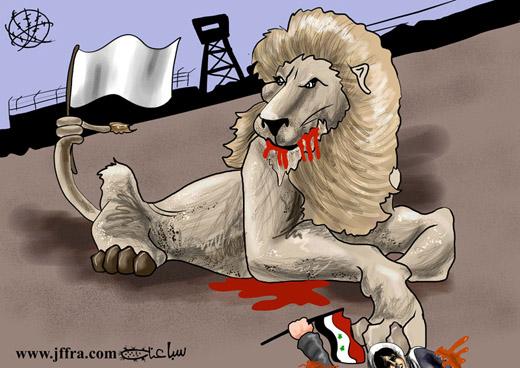 Viñeta cómica en relacion al mundo arabe de www.jfra.com
