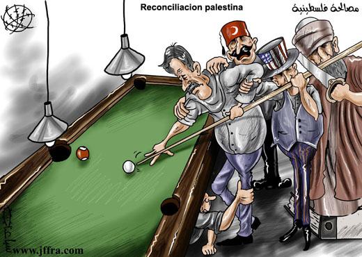 Viñeta Reconciliación palestina