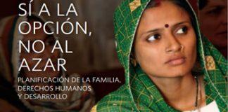 Cartel de la UNFPA a favor del acceso a métodos de planificación familiar