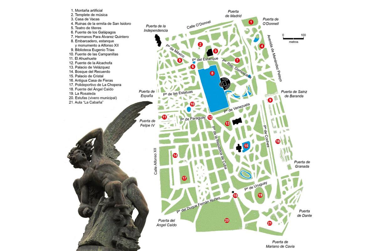 Plano Parque Del Retiro Mapa.El Retiro De Madrid En Sus Planos De Jardin Real A Parque