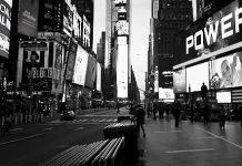 Calles vacías en Nueva York