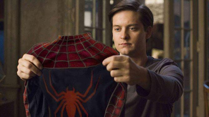 Fotograma de una de las primeras películas de Spider-Man (2002), con Tobey Maguire como Peter Parker.