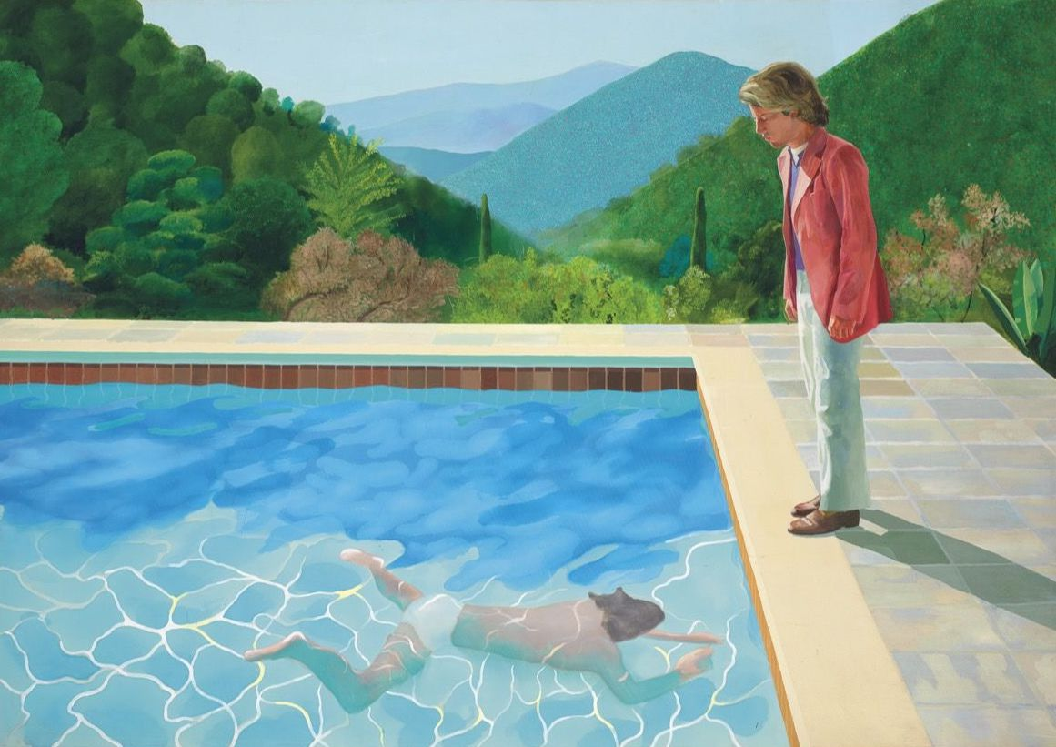 'Portrait of an Artist (Pool with Two Figures)' (1972), de David Hockney.