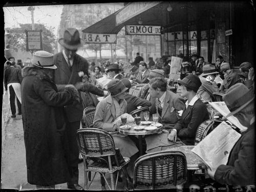 Terraza del Dóme. París.