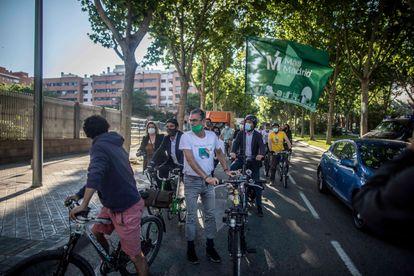 Diputados de Más Madrid en bicicleta