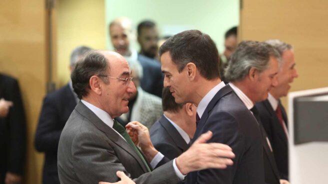 Sánchez Galán y Pedro Sánchez.